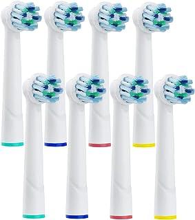 DeBizz ブラウン 替えブラシ オーラルB 対応 BRAUN Oral-b 互換 電動歯ブラシ すみずみクリーン D12013AE マルチアクションブラシ 交換歯ブラシヘッド 8本
