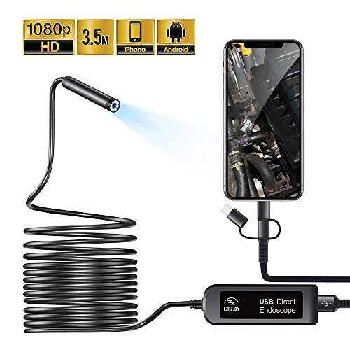 LZHZJOY USB Endoscope for Android and iOS Smart Phones/Tablets Borescope...