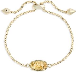 Kendra Scott Elaina Adjustable Chain Birthstone November/Orange Citrine Bracelet