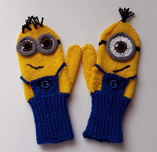 Fäustlinge, Handschuhe MINIONS für Kinder 8-10 Jahre