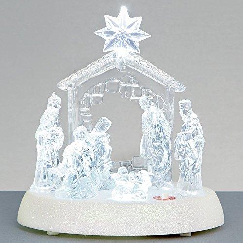 Premier 20cm Christmas Light up Musical Acrylic Nativity Scene