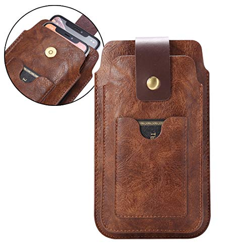 Cinturón de cuero bolsa de la pistolera con gancho, for hombre del bolso de la cintura Fanny Pack for iPhone 11 Pro Max 8 Plus, Monedero Celular Funda Caso recorrido del monedero for Samsung S20 + S20