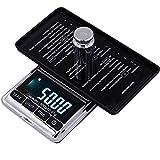 Balances numériques 200G / 300G /500Gx0.01G Balance électronique de précision bijoux de poche numérique LCD portable Balances poids balance de cuisine Gram-échelle 500G_0.01G_Scale AQUILA1125