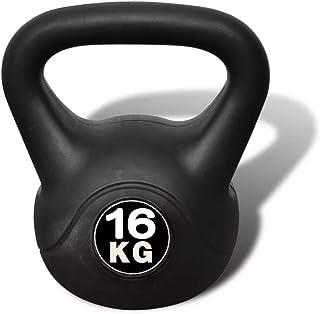 Cikonielf Kettlebell Kettlebell - Kettlebell da 16 kg, Kettlebell con rivestimento in plastica per allenamento muscolare.