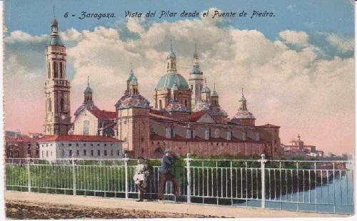 Postal Antigua - Old Postcard : Zaragoza. Vista del Pilar desde el...