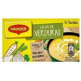Maggi Caldo de Verduras en Pastillas - Caldo de verduras Deshidratado - 10 pastillas para caldo