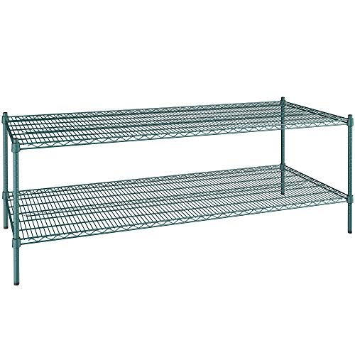 30 inch x 72 inch Green Epoxy 2 Shelf Kit with 27 inch Posts. Storage Shelf. Garage Storage Shelves. Shelving Units and Storage. Food Storage Shelf. Storage Rack. Kitchen Shelves. Bakers Racks