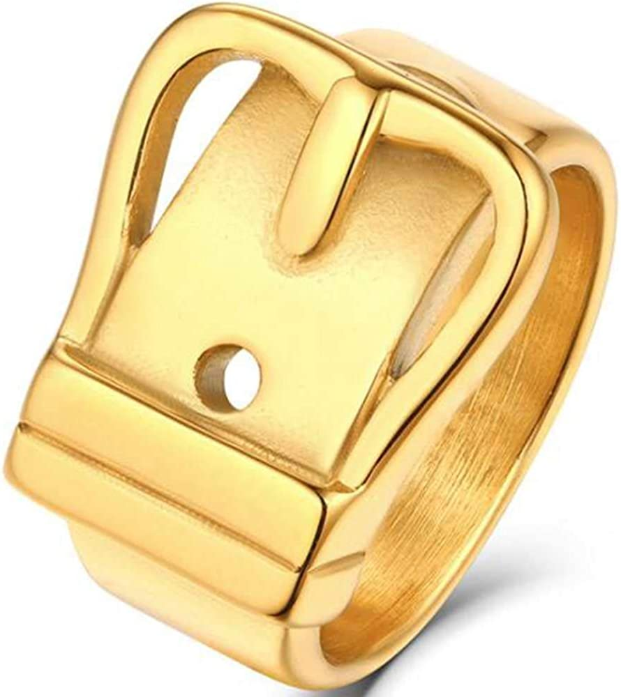 Jude Jewelers Stainless Steel Belt Style Huge Size Chunky Cocktail Party Wedding Statement Promise Biker Ring