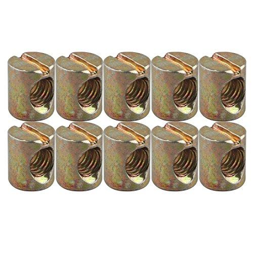 10St. M8* 15mm Barrel Muttern Dübel Schlitz Muttern für Möbel Bett Kinderbett Stühle Kinderbett