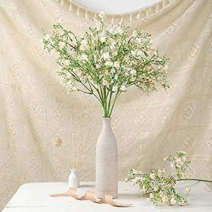 Efavormart 4 Pack – 27″ Babys Breath Artificial Flowers, Gypsophila Real Touch Silk Flowers Stem – Rose Gold – Blush for DIY, Wedding, Party, Home, Floral Arrangement, Garden Decoration