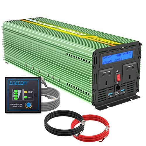 Edecoa 2500W Peak 5000W Power Inverter Pure Sine Wave DC 12V to 240V AC...