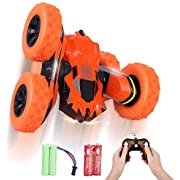 STOTOY RC Cars Stunt Car Toy for 6-12 Years Old Boys, 4WD 2.4Ghz Remote Control Car Rotating Double Sided 360° Flips, Kids Toy Car - Indoor/Outdoor Toy for Boy & Girl Gifts (All Batteries Included)