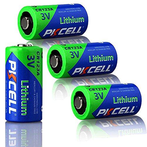 CR123A CR17345 DL123A 3V 1500mAh Photo Lithium Batterie 4-er-Pack