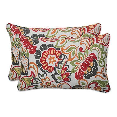 Pillow Perfect 450018 Outdoor/Indoor Zoe Citrus Lumbar Pillows, 11.5' x 18.5', Green, 2 Pack