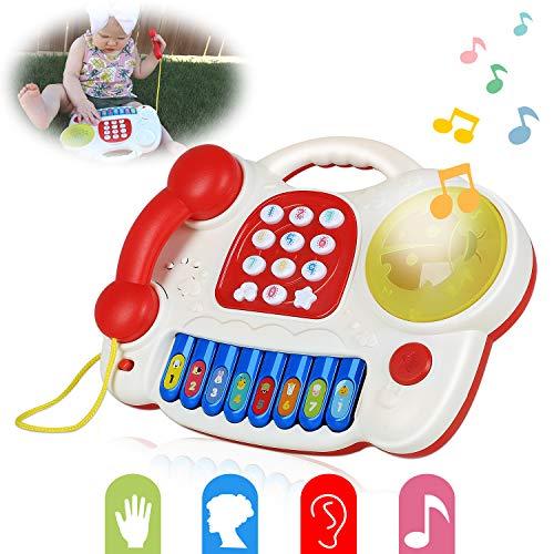 JoinJoy Babyspielzeug leicht greifbares Musikspielzeug Lautstärkeregler mit Lichter Geschenk für Baby und Kleinkinder