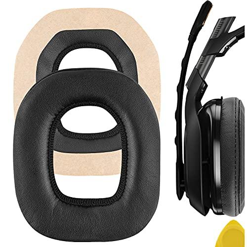Geekria QuickFit Almohadillas de repuesto de piel de proteína para auriculares Astro A40 A50, almohadillas para auriculares, almohadillas para auriculares, piezas de reparación (negro)
