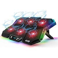IPOW 12Mode RGB Laptop Cooling Pad LED Screen Gaming Laptop Cooler