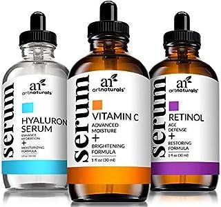 ArtNaturals Anti-Aging-Set with Vitamin-C Retinol and Hyaluronic-Acid - (3 x 1 oz) Serum for Anti Wrinkle and Dark Circle ...