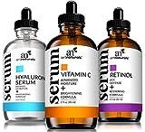 ArtNaturals Anti-Aging-Set with Vitamin-C Retinol and Hyaluronic-Acid - (3 x 1...