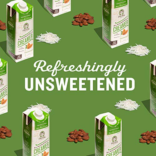 Califia Farms - Unsweetened Almond Milk Coffee Creamer with Coconut Cream, 32 Oz (Pack of 6) | Non Dairy | Plant Based | Keto Friendly | Sugar Free | Low Calorie | Whole30 | Non-GMO | Shelf Stable