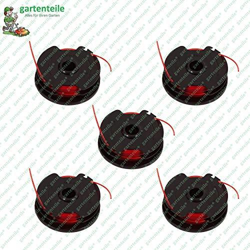 Fadenspule 5er Pack, Ersatzspulen mit jeweils 2 x 3 m Faden, passend für Parkside Rasentrimmer PRT 550 A1 - LIDL IAN 311404