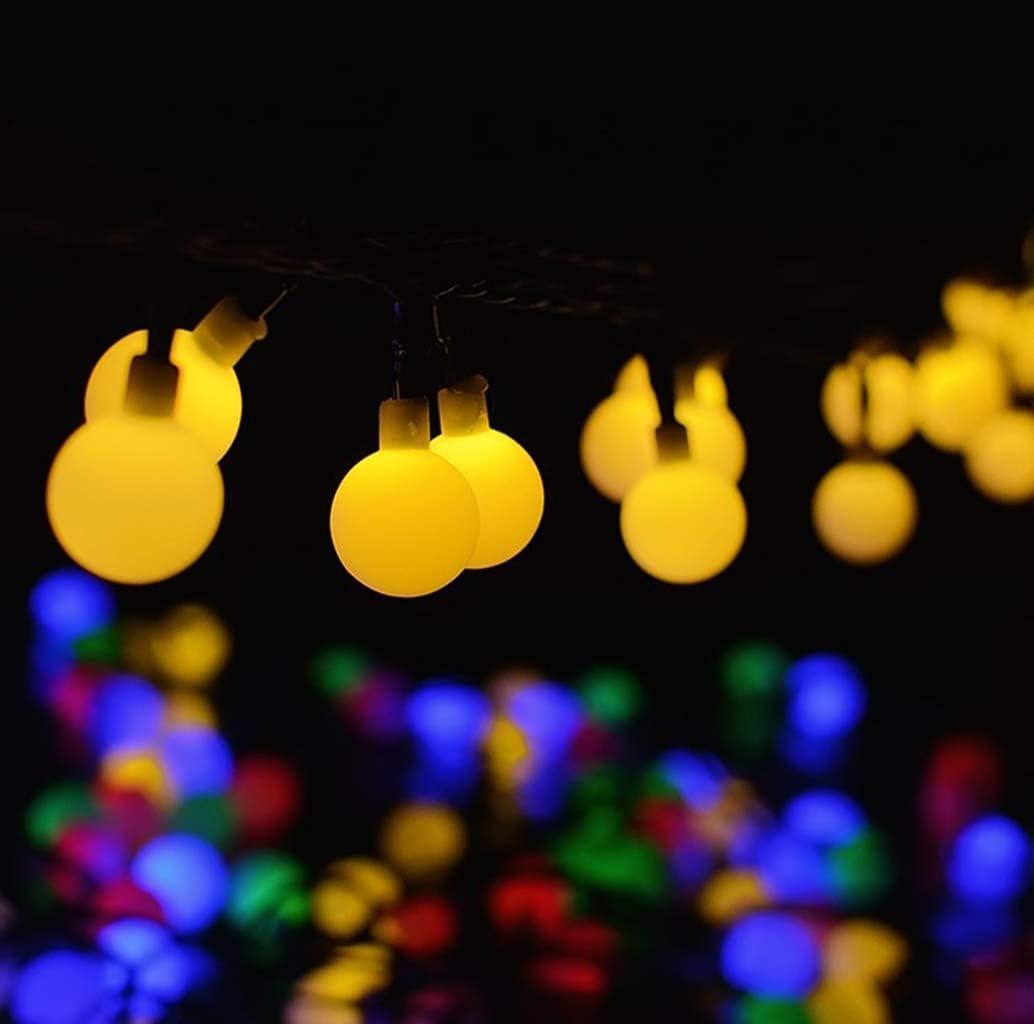 GNBHCP Lichterketten Solar-LED-Lichterkette, 200 Licht-Weiß-Ball Niederdruck-Außenlandschaftsgarten-Dekoration Laterne Weihnachten Beleuchtung (5M, 6.5M, 7M, 12M, 22M) (Color : Warm white-22M) Warm White-7m