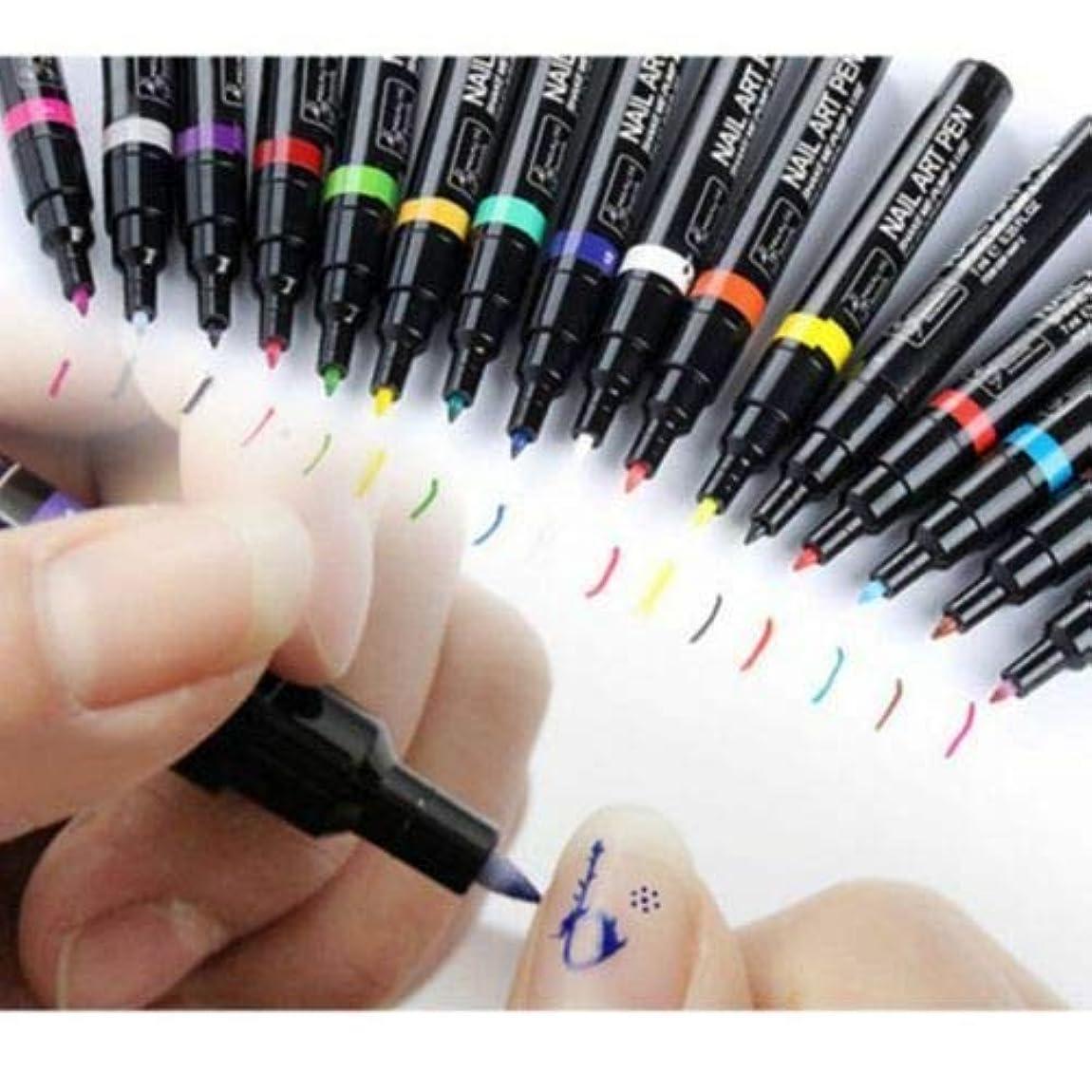 オーバーフロー血まみれ省略するFidgetGear 16色ネイルアートペン絵画デザインツールデッサン用uvジェルポリッシュマニキュア