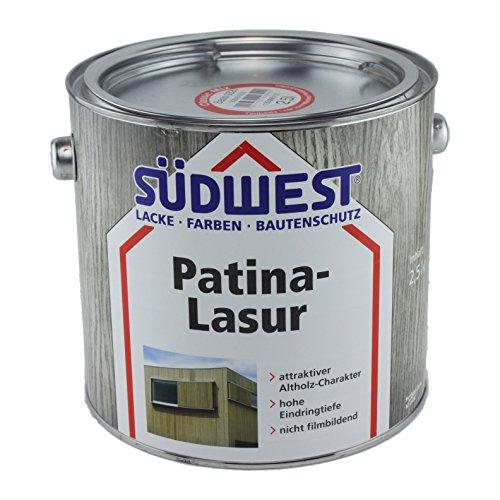 Südwest Patina-Lasur Holzlasur Silber 2,5 Liter