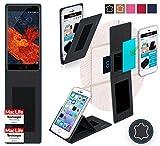 reboon Hülle für Meizu Pro 6 Plus Tasche Cover Case Bumper | Schwarz Leder | Testsieger