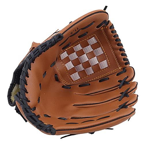 A+TTXH+L Guante béisbol Deportes al Aire Libre Dos Colores Guante de béisbol Equipo de práctica de Softball Tamaño 9.5/10.5/11.5/12.5 Mano Izquierda para Hombre Adulto Mujer Tren #a