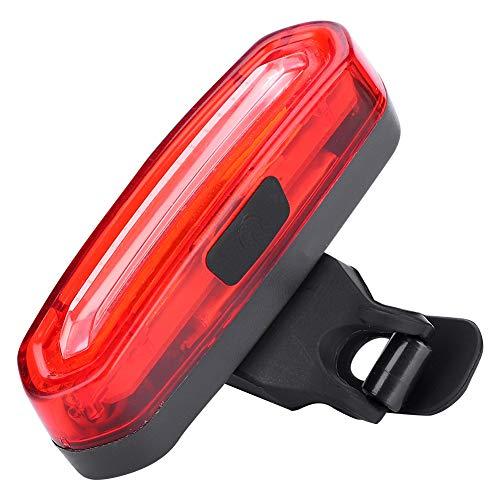 Da Dini 120lm Bike Safety Light Outdoor COB Bike Sillín Trasero Lámpara De La Lámpara De Seguridad Luz De Advertencia Noche Montar Red & White