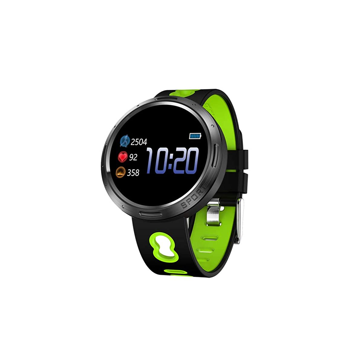 Youthly 2019 Smartwatch Men IP67 Waterproof Smart Watch Women Fitness Tracker Heart Rate Monitor Message Reminder for iOS Android Phone