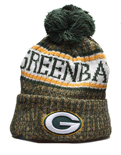 Beanie Knit Cap with Pom for 2020 Raised Cuff Knit Sport Fans Winter Beanie Hat