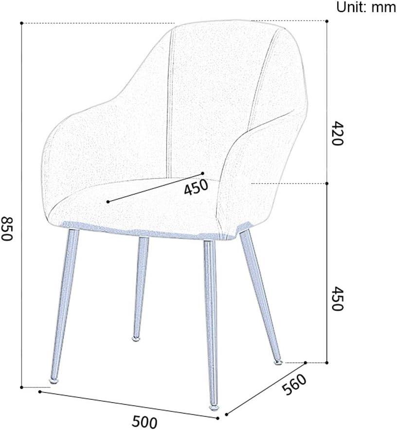FENDOU Chaise de salle à manger simple, dossier créatif, chaise de loisirs, chaise de salle à manger pour adulte (couleur : bleu marine) Orange