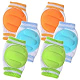 3 Pairs Baby Knee Pads for Crawling - Adjustable...