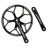 Jnp 58t 58Gear Grand Diamètre pliable pour vélo Pédalier avec pignon Protetive Coque 130bcd Ensemble de manivelle 170mm, noir
