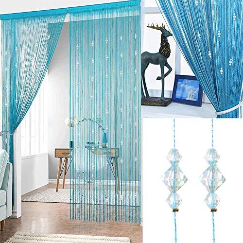 Timere Crystal Beaded Curtain Tassel Curtain - Partition Door Curtain Beaded String Curtain Door Screen Panel Home Decor Divider Crystal Tassel Screen 90x200cm