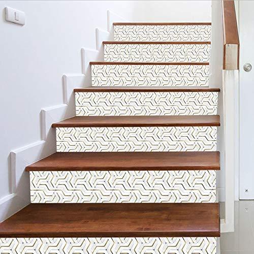 Autocollants D'Escaliers De Bricolage 3D 13Pcs / Set Stickers Décoratifs Pour La Maison D'Escalier Décoratifs Autocollants De Plancher Auto-Adhésifs Affiche D'Escaliers Imperméables Stickers Muraux