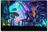 XIZYU BOIPEE Jigsaw Puzzle Rick and Morty Puzzle Mushroom House Abstract Adults Cartoon Anime 1000 Piece Wooden Puzzles Children Toy