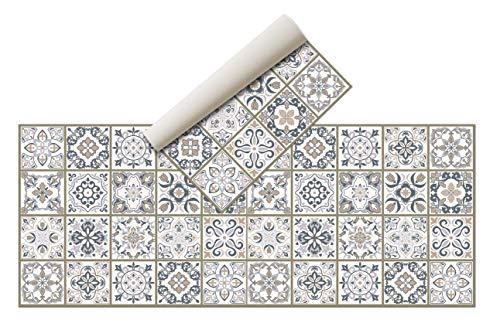 Alfombra Vinílica - (Hidráulica, 200x80 cm) - Distintos diseños y tamaños - Opción Personalizable - Alfombra Cocina, baño, Comedor - Antideslizante - Alfombra Dormitorio - Goma esponjosa y Suelo PVC