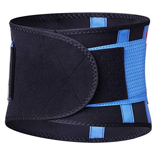 Belleashy Cinturón De Entrenador De Cintura Soporte De Cintura Ajustable Cinturón para El Vientre De Fitness Cinchers De Cintura para Entrenamiento Físico Unisex (Size:M; Color:Blue)