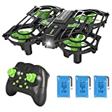 NEHEME NH320 Plus Mini Drones for Kids, RC Small Quadcopter Drone Indoor Helicopters Plane with Auto Hovering 3D Flip Speed Adjustment and 3 Batteries Toys for Boys and Girls Gift-Green