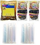 Collection of BOBA Tapioca Pearls for Bubble Tea, Pantai Thai Tea Powder and Boba Jumbo Straws...