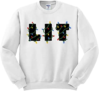 Lit Christmas Lights Sweatshirt Unisex