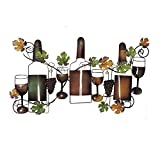Deco 79 63546 Traditional Wine and Grapevine Iron Wall Decor, 19' x 36'
