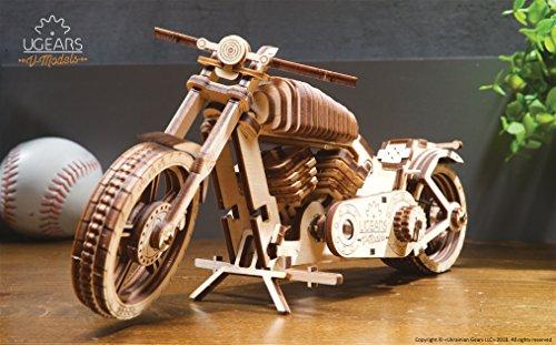 MOTORRAD Modellbausatz - Bike VM-02 mit Gummibandmotor von UGEARS