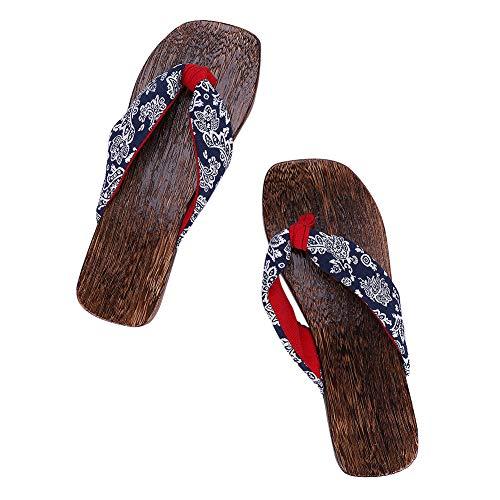 Zehensandalen Holz Sandalen Damen Mädchen Verstopfen Hölzern Hausschuhe Outdoor Plattform Schuhe Japanische Holzschuhe Pantoletten Flip Flops Pantoffeln Strandschuhe Badeschuhe Surfschuhe