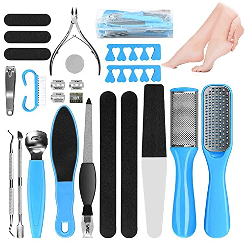 Manicure Set Professional set of 21 Pcs, Stainless Steel Pedicure Kit Tools Pedicure Supplies, Foot Spa Foot Bath Care Kit for Cracked Skin Corns Callus and Best Gift for Men and Women(21 pcs/set)