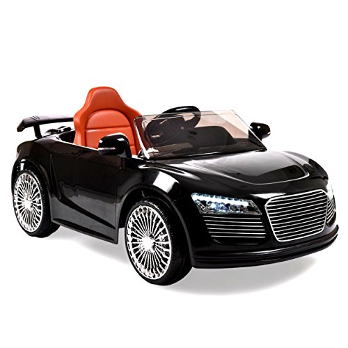 Electric Cars For Kids To Ride Car Toy Audi R8 Style Power Riding Toy Battery Powered 12 Volt Remote Control RC Bright Lights - House Deals