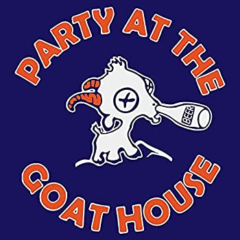 Andrena-Buga-The Navy BMS Goat Party House at Mountain State Football Blue | Home Decor Wall Art Print Poster  24x24 Inch